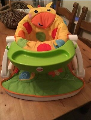 Fisher Price Giraffe Sit-me-up Floor Seat With Tray
