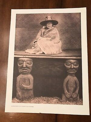 """Northwest Native American 19th Century Photo print.reprinted in 1970s 13""""x17"""""""