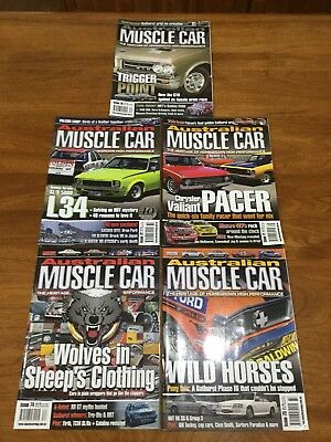 "Australian Muscle Car Magazines # 70 71 72 73 74 ""Free Post"""