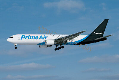 "Prime Air Boeing 767 cargo jet N1997A ""Amazon One"" LVIA LARGE Postcard MINT!"