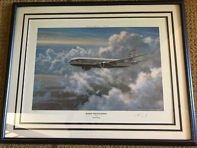 30 Minutes to London British Air 777 limited edition print