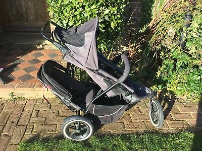 Phil And Teds Sports Double Buggy with Baby Cocoon, Rain Cover, Spares