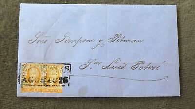 Mexico Brief letter envelope 1858 Hidalgo