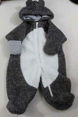 OSHKOSH BGOSH baby boy 3-6 months TEDDY BEAR winter one piece coat