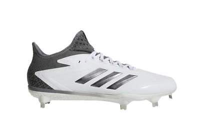 san francisco 03bbb 32a22 Adidas Adizero Afterburner 4 Mens Metal Baseball Cleats WhiteSilver -  B39156