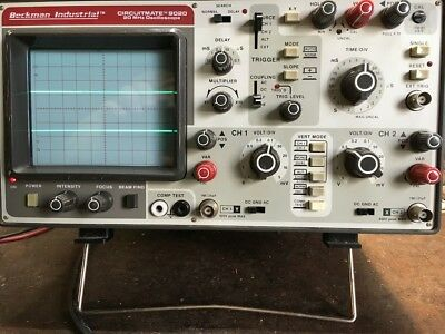 Beckman Instruments Circuitmate 9020 20MHz Oscilloscope w/Impedance Curve Tracer