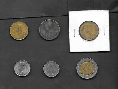 Thailand 6 Coins Lot in the mix 50 Satang 1946