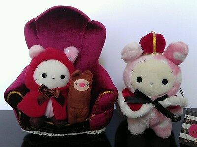 San-X Sentimental Circus Shappo (set of 2) Red Riding Hood Stand + Royal Crown
