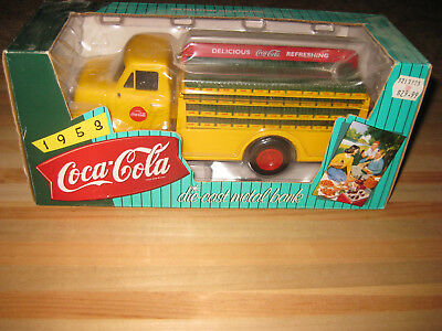 Coca-Cola Die Cast Metal Bank 1953 Delivery Truck New in Box ERTL Yellow