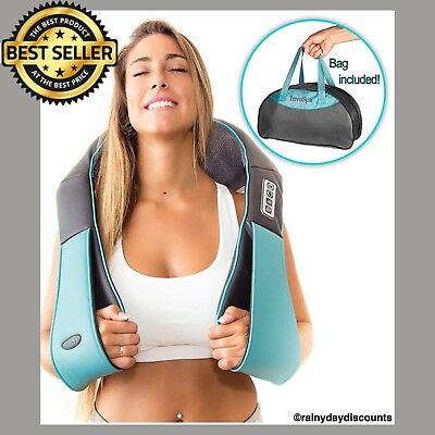 Invospa Shiatsu Back Neck and Shoulder Massager With Heat Deep Tissue Massage