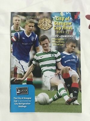 Rangers  v Celtic Scottish Glasgow Cup Final 2013 Mint Official Programme