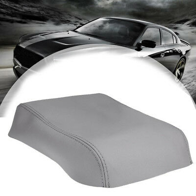 New Leather Center Console Lid Armrest Cover Gray For 08-13 Toyota Highlander US
