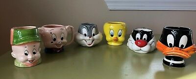 Set of 6 Looney Tunes Coffee Mugs from Applause