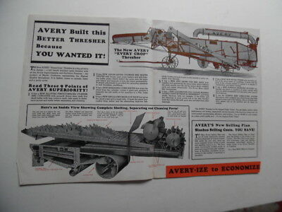 1935 Avery Every Crop Thresher Catalog Brochure Peoria Illinois Vintage Original