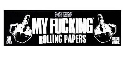 Rollies My F**king Rolling Papers Single Wide 50 Leaves Cigarette Smoke Smoking
