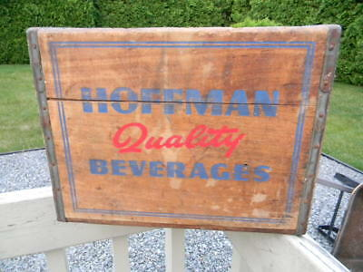Vintage Antique Hoffman Beverages Soda Beer Bottle Crate Box Newark New Jersey