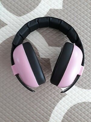 Baby Banz Earmuffs Pink Protective Hearing Infant Baby Toddler