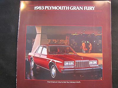 1983 Plymouth Gran Fury Original Sales Brochure