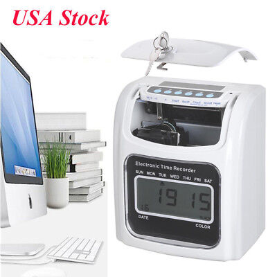 Employee Work Hours Attendance Electronic Time Clock Punch Card