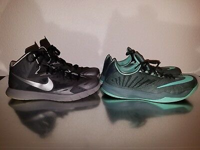 LOT of 2 Men's Nike Zoom AND Hyper quickness Basketball Shoe Sneaker Size 13