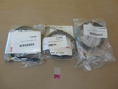 Lot Of 3 Targus 9Ft/5Mm Notebook Laptop Security Cable Lock 7120495 Bmj