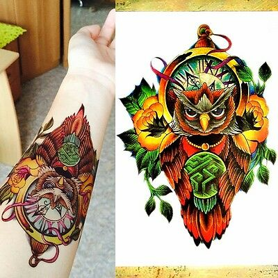 Temporaire 3d Bras Complet Tatouage Pochoir Autocollant Body Art