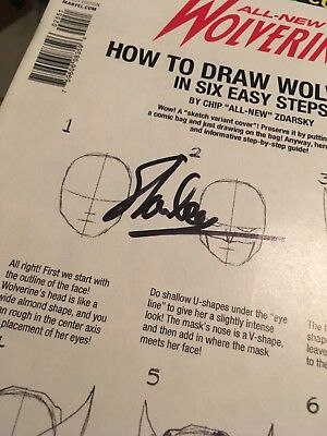all new wolverine #25 variant signed on cover in black by Stan Lee