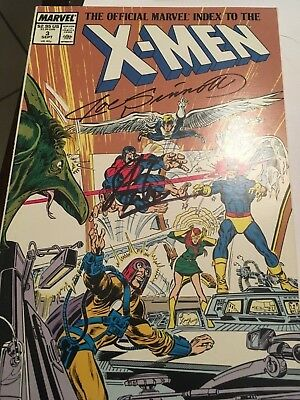 x-men #3 official marvel guide signed by Joe Sinnott and Stan Lee
