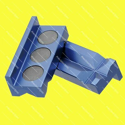 Magnetic Aluminium Vise Jaw Insert Pad For AN Hose End Fitting Adapter - Blue