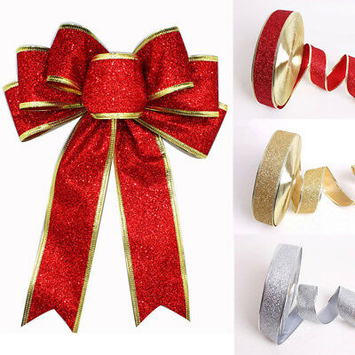 Christmas Ribbon Bundles 2M/6.5 Feet Gift Wrapping, Wreaths, Decorations, Crafts