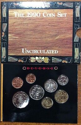 1990  RAM Uncirculated (UNC)  8 Coin Mint Set