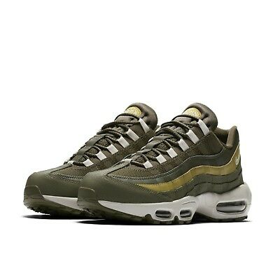 afd8ea6245 Nike Mens Air Max 95 Essential Olive Green Brown Running Shoes 749766-303
