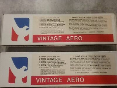Vintage Aero Peanut Scale model aircraft kits (pair)