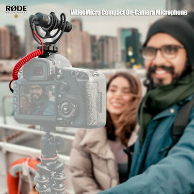 Rode VideoMicro Compact On-Camera Microphone for Camcorders DSLR Cameras H9Q7