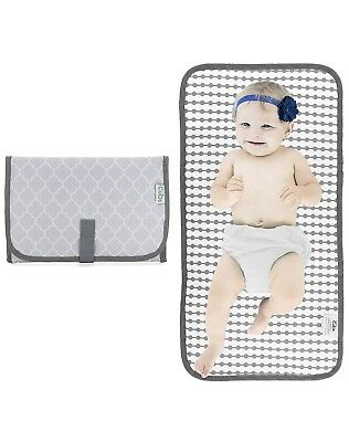 Baby Portable Changing Pad, Diaper Bag, Travel Mat Station, Grey Compact [E]