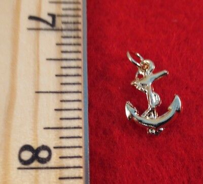 14Kt Gold Ep  Small Anchor Nautical Charm Pendant A-64