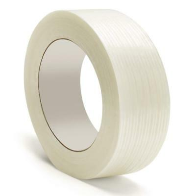 "Filament Strapping Tape 4 Mil 1"" x 60 Yds Reinforced Packing Tapes 180 Rolls"