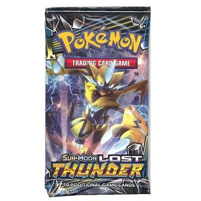 Pokemon Cards - Sun & Moon Lost Thunder - Booster Pack (10 Cards) - New Sealed