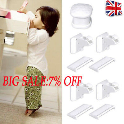 Invisible Magnetic Child Pet Proof Cupboard Door Drawer Baby Safety Locks Catch