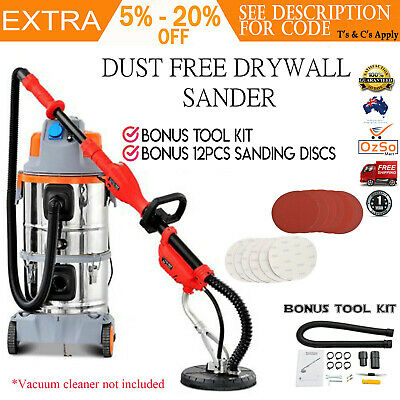 Drywall Sander Plaster Board Dust Free Sanding Disc Dry Wall Gyprock 6 Speed