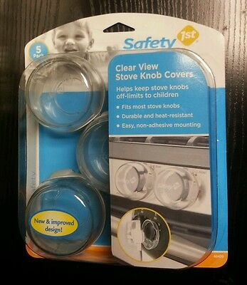 Baby Home Safety 1st Clear View Stove Knob Covers Set of 5 NEW *SHIPS FREE*