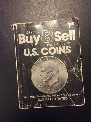 Vintage Coin Colkecting Book 1972 Buy & Sell U.S. Coins