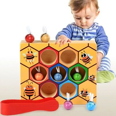 Bee Hive Board Games Building Blocks Bee Toys Childhood Wooden Toys
