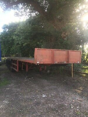 A Very Very Rare Tri Axle Ext Trombone Trailer On Steel Yes Steel Suspension