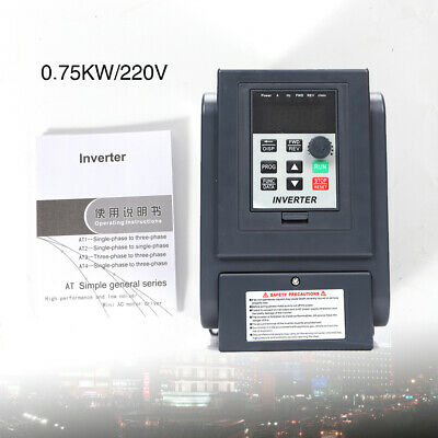 Frequenzumrichter Variable Frequency Drive Inverter VFD 220V 0,75KW PWM Control!