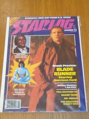 Starlog #52 Sci-Fi Magazine November 1981 Blade Runner Harrison Ford Swamp Thing