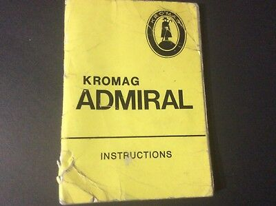 Kromag Admiral (Puch) Instructions/manual booklet
