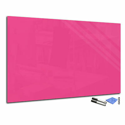 Magnetic Glass Markerboard – Tempered Glass Whiteboard T02 60x80cm pink