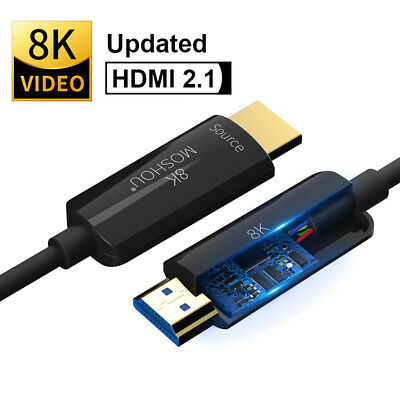 HDMI 8K Optical Fiber UHD Cable Audio&Ethernet HDMI Cord Cable 2.1 8K@120Hz HDR