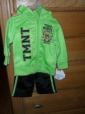 Nickelodeon Ninga Turtle Boys Outfit Size 12 Months Green Black Nwt